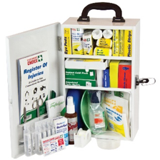 FIRST AID KIT - NATIONAL WORKPLACE FIRST AID KIT WALL MOUNTED METAL